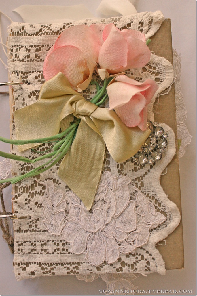 Diy Lace Book Cover ~ Diy friday vintage journal pink roses