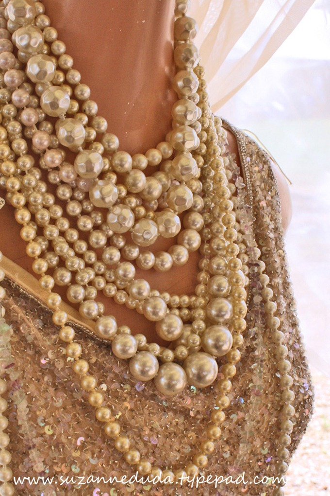 sequins and pearls